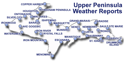 Upper Peninsula Of Michigan Weather Reports