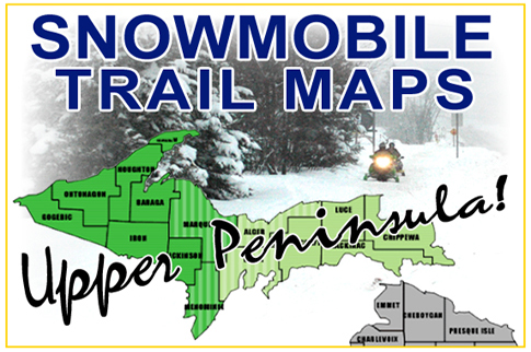 Upper Peninsula of Michigan Snowmobile Trail Maps on