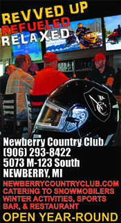 Newberry Country Club Snowmobilers welcome.