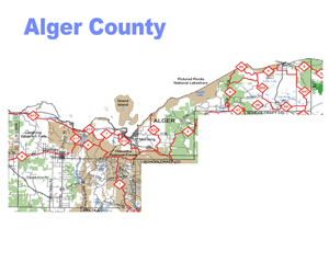 Alger County Snowmobile Trail Map