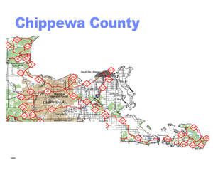 Chippewa County Snowmobile Trail Map
