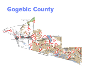 Gogebic County Snowmobile Trail Map