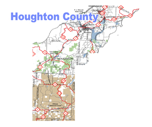 Houghton County Snowmobile Trail Map