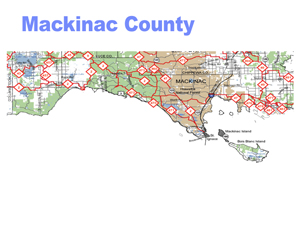 Mackinac County Snowmobile Trail Map