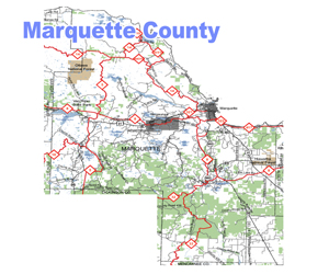 Marquette County Snowmobile Trail Map