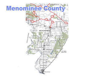 Menominee County Snowmobile Trail Map